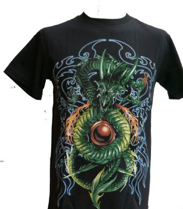 The Green Dragon T Shirt With Large Back Print